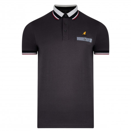 Kangol Muse Polo Pique Shirt Storm Grey | Jean Scene