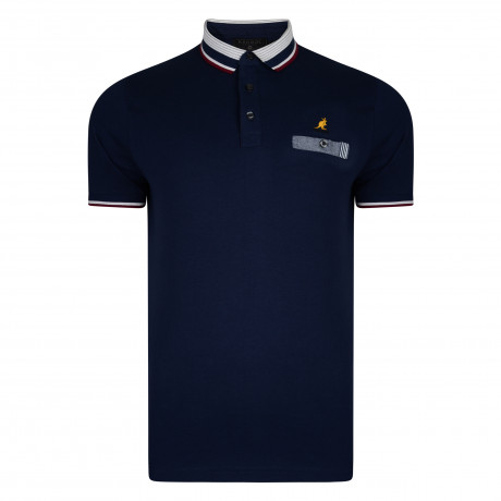 Kangol Muse Polo Pique Shirt Navy | Jean Scene