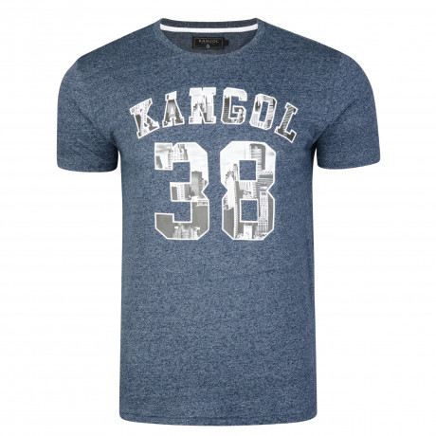 Kangol Rocka Crew Neck Cotton Logo T-shirt Navy | Jean Scene
