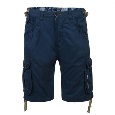 Firetrap Casual Kenlor Cargo Bermuda Shorts Dark Denim   Jean Scene
