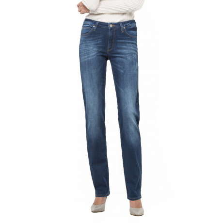 Lee Marion Women's Straight Stretch Jeans Night Sky | Jean Scene