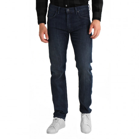 Lee Brooklyn Straight Stretch Jeans Dark Side Blue | Jean Scene