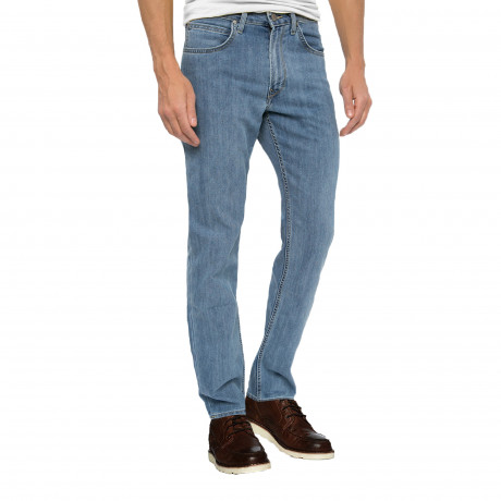 Lee Brooklyn Straight Stretch Jeans Slate Steel | Jean Scene