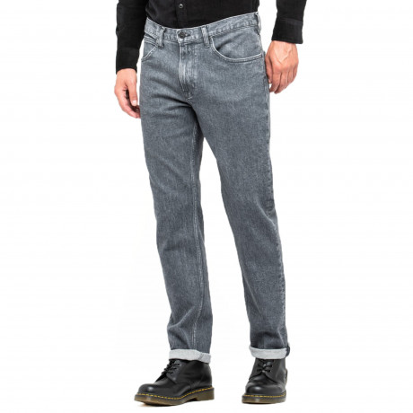 Lee Brooklyn Straight Stretch Jeans Used Grey | Jean Scene