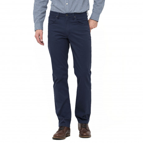 Lee Brooklyn Straight Leg Stretch Chinos Faded Navy | Jean Scene