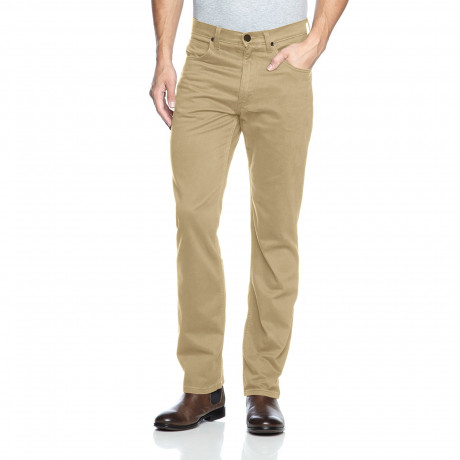 Lee Brooklyn Straight Leg Stretch Chinos Light Sand Beige | Jean Scene