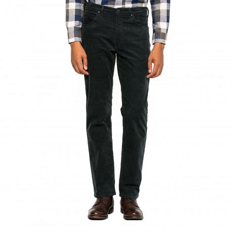 Lee Brooklyn Straight Leg Stretch Cords Deep Green | Jean Scene