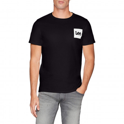 Lee Retro Logo Men's T-Shirt Black | Jean Scene