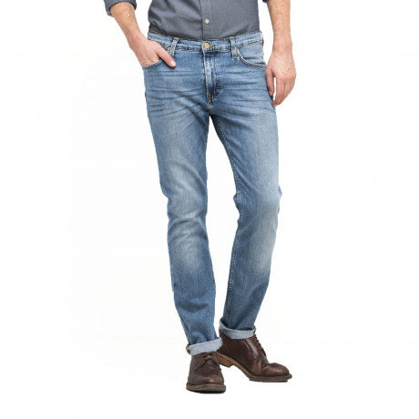 Lee Rider Regular Slim Light Shade Blue Denim Jeans | Jean Scene