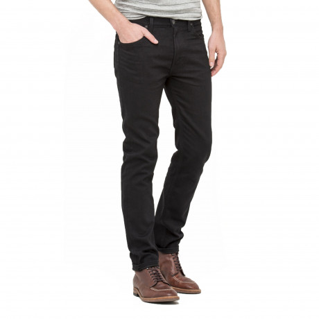 Lee Rider Regular Slim Black Rinse Black Denim Jeans | Jean Scene