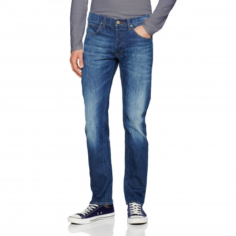 Lee Daren Regular Slim After Dark Blue Denim Jeans | Jean Scene