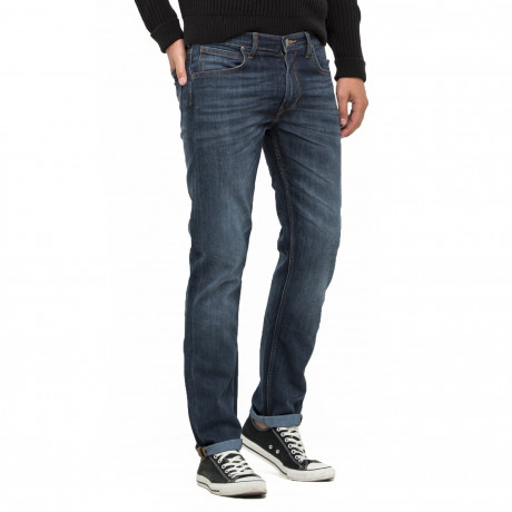 Lee Daren Zip Regular Slim Deep Blue River Blue Denim Jeans | Jean Scene