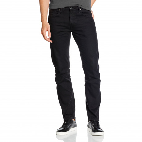 Lee Daren Zip Regular Slim Black Rinse Denim Jeans | Jean Scene