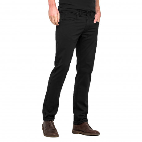 Lee Daren Zip Regular Slim Black Chino Jeans | Jean Scene