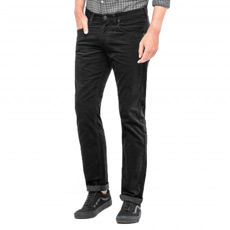 Lee Daren Zip Regular Slim Black Corduroy Jeans | Jean Scene