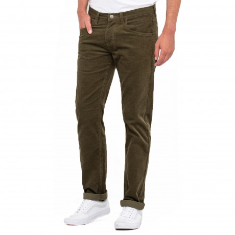 Lee Daren Zip Regular Slim Ivy Green Corduroy Jeans | Jean Scene