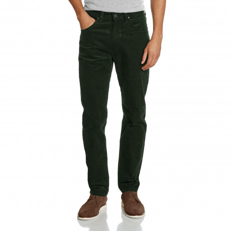Lee Daren Zip Regular Slim Green Corduroy Jeans | Jean Scene