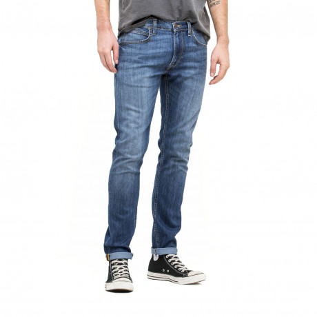 Lee Luke Slim Tapered Faded Urban Blue Denim Jeans | Jean Scene