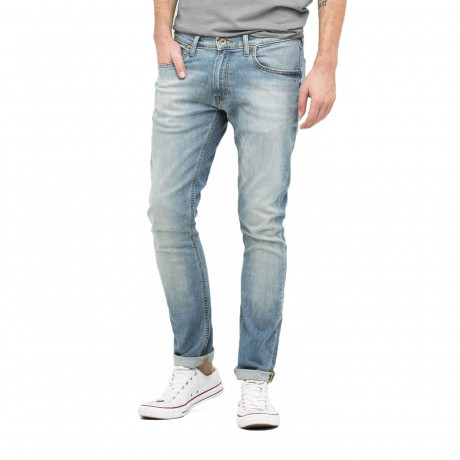 Lee Luke Slim Tapered Faded Sun Faded Green Denim Jeans | Jean Scene