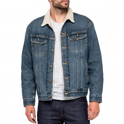 Lee Sherpa Fur Denim Jacket Vintage Worn | Jean Scene
