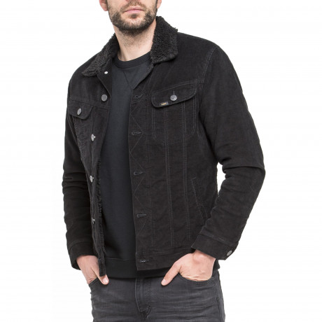 Lee Sherpa Fur Corduroy Jacket Black | Jean Scene