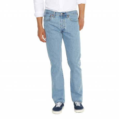 Levis 501 Denim Jeans Lightwash Blue   Jean Scene