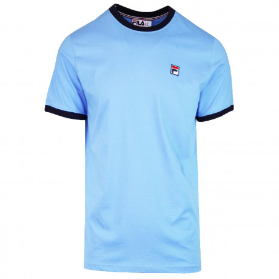 Fila Logo T-Shirt Short Sleeve Lake Blue   Jean Scene