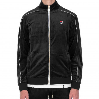 Fila Men's Lineker Track Jacket Black/White | Jean Scene