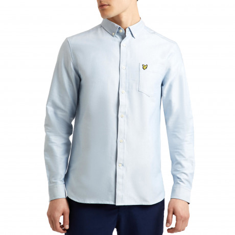 Lyle & Scott Oxford Shirt Long Sleeve Riviera | Jean Scene