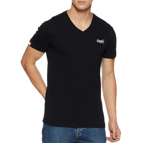 Superdry Orange Label Men's T-Shirt Black | Jean Scene