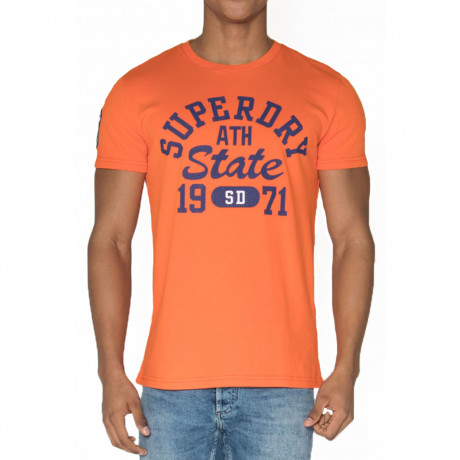 Superdry Upstate Wash Men's T-Shirt Campfire Orange | Jean Scene