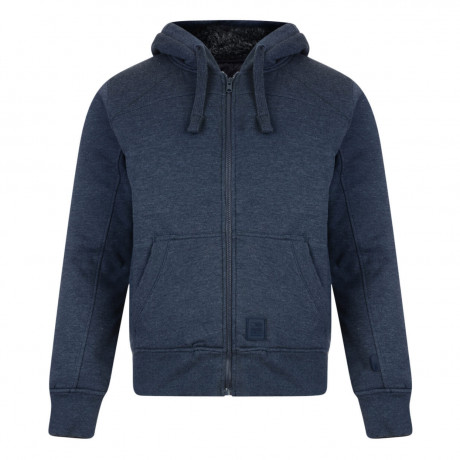 Crosshatch Mackdown Zip Up Fur Hoodie Iris Blue