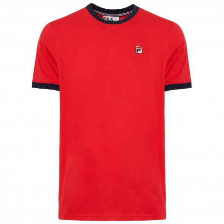 Fila Logo T-Shirt Short Sleeve Chinese Red | Jean Scene
