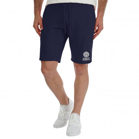 Franklin & Marshall Men's Fleece Logo Jogging Shorts Navy | Jean Scene