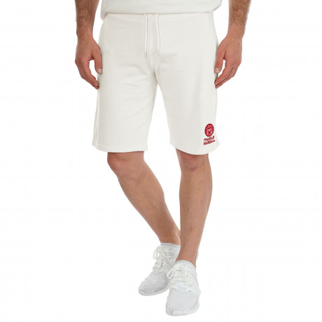 Franklin & Marshall Men's Fleece Logo Jogging Shorts Milk | Jean Scene