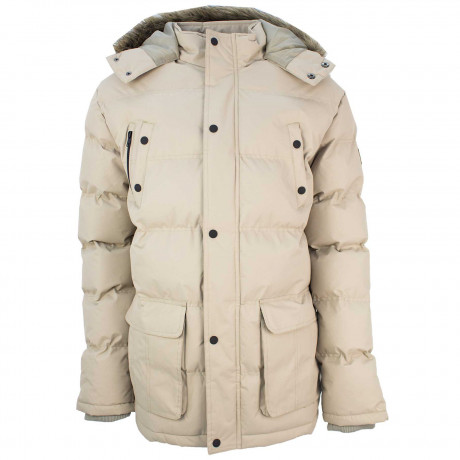 Soul Star Winter Padded Puffer Jacket Beige | Jean Scene