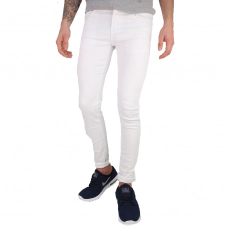 Soul Star Slim Tapered Skinny Fit White Denim Jeans | Jean Scene