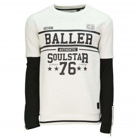 Soul Star Men's Casual Sweatshirt Ecru | Jean Scene