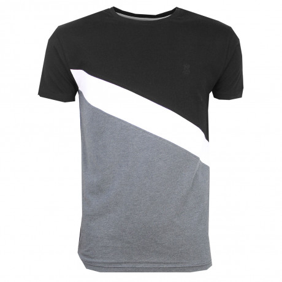 Soulstar Row Crew Neck Cotton Fashion T-Shirt Black | Jean Scene