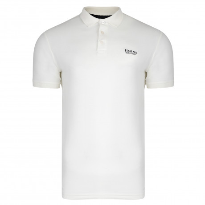 Firetrap Polo Pique Shirt White | Jean Scene