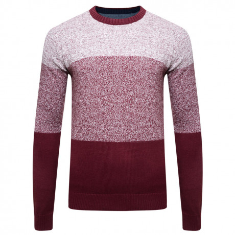 Lee Cooper Crew Neck Navenby Knitted Jumper Red