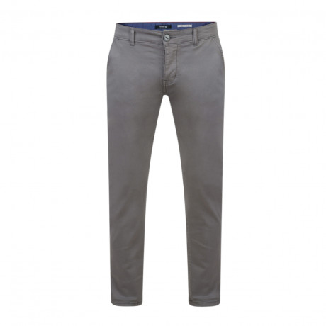 Firetrap Newaygo Slim Fit Cotton Chinos Pewter Grey | Jean Scene