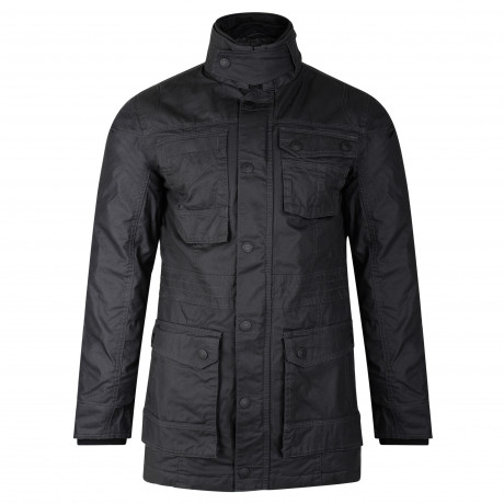 Threadbare Padded Long Weeny Utility Jacket Black | Jean Scene