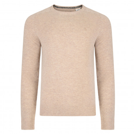 Original Penguin Crew Neck Lambswool Blend Jumper Kelp Beige | Jean Scene