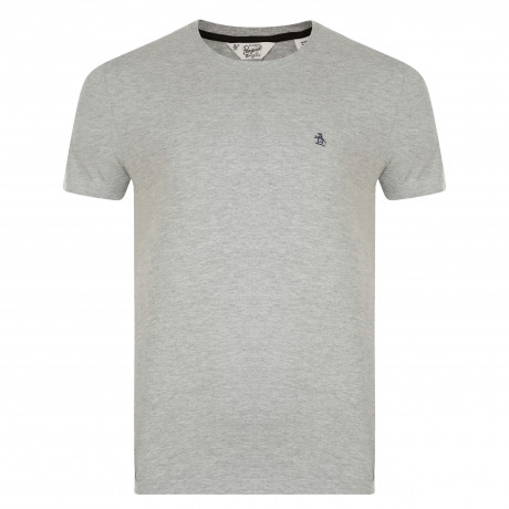 Original Penguin Crew Neck T-Shirt Rain Heather Grey | Jean Scene