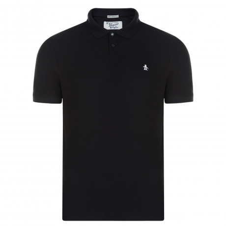 Original Penguin Polo Pique Shirt True Black | Jean Scene