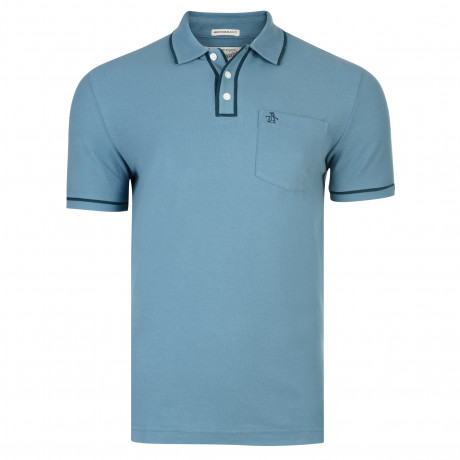 Original Penguin Men's Polo Shirt Shirt Aegean Blue