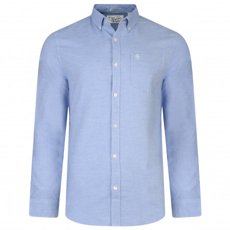 Original Penguin Oxford Shirt Long Sleeve Estate Blue | Jean Scene