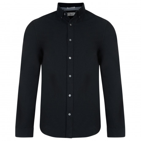 Original Penguin Oxford Shirt Long Sleeve True Black | Jean Scene