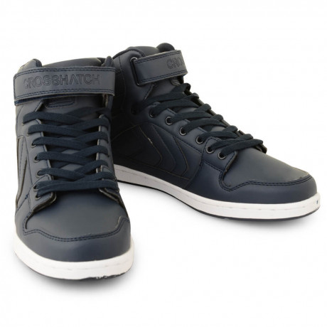 Crosshatch Otway High Top Trainers Dress Blue